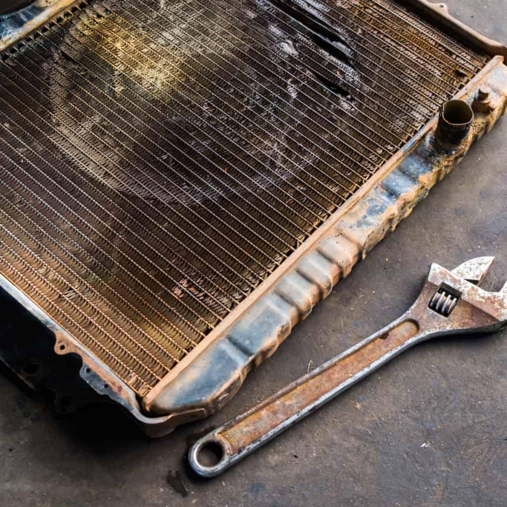 Radiador con corrosion
