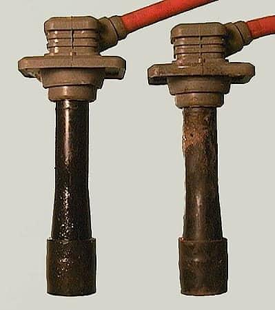 Cable de bujía dañado