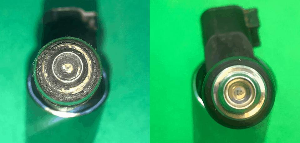 Inyector limpio vs sucio