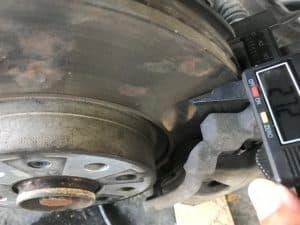 Espesor de un rotor de frenos