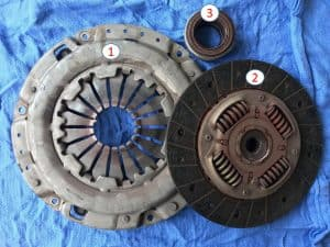 Componentes del kit de clutch
