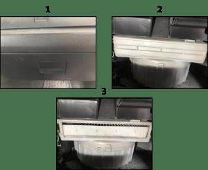 Posición del filtro de cabina