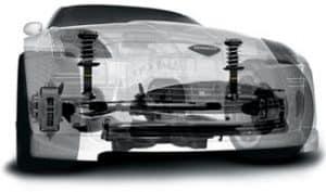 Amortiguadores Monroe en vehículo traslucido