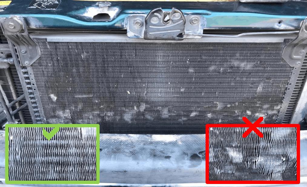 Comparativo de condensador bueno y malo