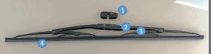 Estructura de las plumas limpiaparabrisas