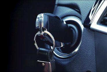 Fondo sistema de arranque del auto